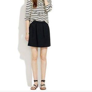 • Madewell • Bistro Mini Skirt Black 6 Women's
